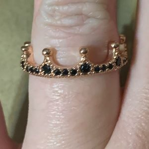 Pandora Black Crown Ring